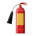 fire extinguisher fire equipment vector image vector image