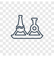 flask concept linear icon isolated on transparent vector image