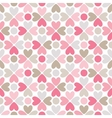 Floral seamless pattern with heart and dot shapes vector image vector image