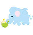 Flying Elephant With Baby vector image vector image