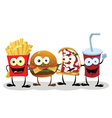 Four Happy Friends vector image