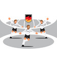 germany player team celebration with badge vector image