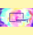gradient fluid background commercial cover vector image
