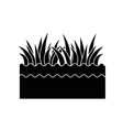 grass and ground vector image vector image