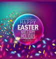 greeting card with round label vector image