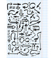 hand drawn arowws vector image vector image