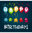 Happy Birthday Monsters vector image vector image