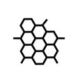 honeycomb icon vector image vector image