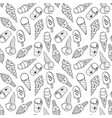 ice cream pattern 4 monochrome vector image vector image