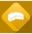 icon of Cheese with a long shadow vector image vector image
