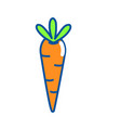 isolated carrot design vector image