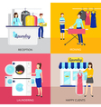 Laundry Concept Icons Set vector image vector image