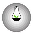 leaf bulb logo in shades of gray circle vector image vector image