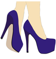 Legs and high heeled shoes 015 detail vector image vector image