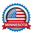 Minnesota and USA flag badge vector image vector image