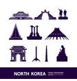 north korea travel destination vector image vector image