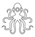 octopus icon outline vector image vector image