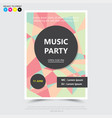party music posterbrochureflyer design template vector image vector image