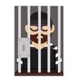 prisoner avatar character icon vector image vector image