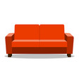 red leather luxury sofa for modern living room vector image vector image
