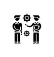research project black icon sign on vector image vector image