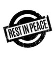 rest in peace rubber stamp vector image vector image
