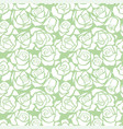 seamless pattern with white roses vector image vector image