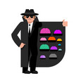 smuggler selling brains cloak-seller isolated vector image