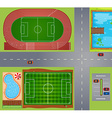 Sport fields and courts vector image vector image