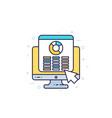 spreadsheet report icon with outline vector image vector image