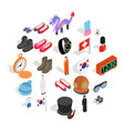 standard icons set isometric style vector image vector image