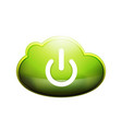 start power cloud button ui icon design on off vector image vector image