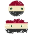 Syrian round and square grunge flags vector image vector image