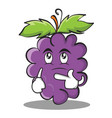 thinking grape character cartoon collection vector image vector image