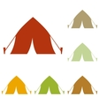 Tourist tent sign vector image vector image
