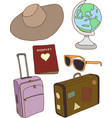 Travel concept items vector image