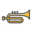 trumpet filled outline icon music instrument vector image vector image