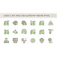 used car and dealership icon set design 48x48 vector image