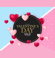 valentines day sale discont card vector image vector image