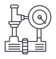 water pressure system hvac industry line vector image vector image