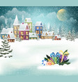 winter village and christmas presents vector image vector image