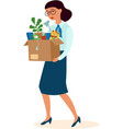 woman kicked out work vector image