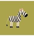 Zebra Funny vector image