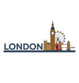 london english architecture tourism travelling vector image