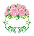 vintage floral frame element for design retro vector image