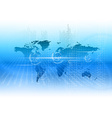 Digitall world as abstract business background vector image