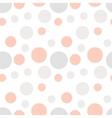 Minimal hand drawn seamless pattern with circles vector image