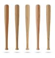 Set of baseball bats vector image