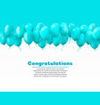 3d realistic colorful bunch birthday balloons vector image vector image