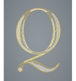 Abstract golden letter Q vector image vector image